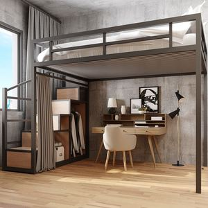 Loft Bed with Storage with Wardrobe (M0182)