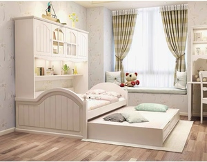 Bedframe with cabinet with pull out bed with big drawer/Children's bed (M0152)