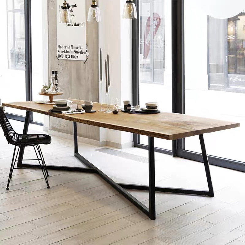 Dining Table (M0110) /Meeting Table Wooden Top
