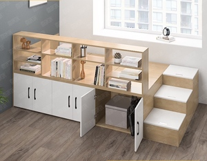 Bedframe with storage with bookshelf (M0150)