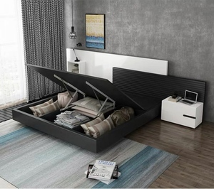 Bedframe with storage with Bedside table (M0191)