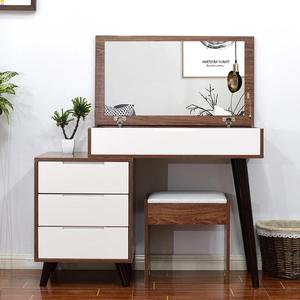 Wooden (M0020) Dressing Table w Stool