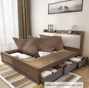 Bedframe with storage /Bedside Table(M0147)