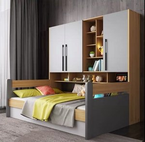 Bedframe with storage with cabinet (M0151)